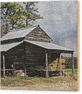 Tobacco Barn In North Carolina Wood Print by Benanne Stiens