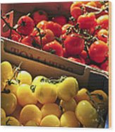 Tomatoes On The Market Wood Print by Elena Elisseeva