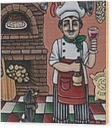 Tommys Italian Kitchen Wood Print by Victoria De Almeida