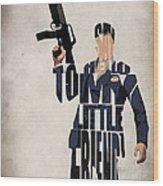 Tony Montana - Al Pacino Wood Print by Ayse Deniz