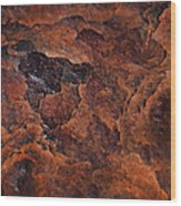 Topography Of Rust Wood Print by Rona Black