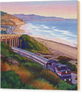Torrey Pines Commute Wood Print by Mary Helmreich