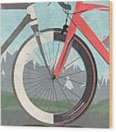 Tour De France Bicycle Wood Print by Andy Scullion