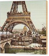 Tour Eiffel And Exposition Universelle Paris Wood Print by Georgia Fowler