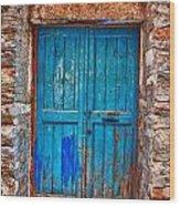 Traditional Door 2 Wood Print by Emmanouil Klimis