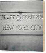 Traffic Control Wood Print by Lisa Russo