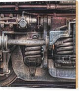 Train - Car - Springs And Things Wood Print by Mike Savad