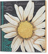 Tranquil Daisy 2 Wood Print by Debbie DeWitt