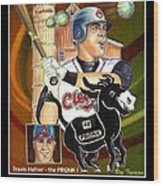 Travis Hafner The Pronk Wood Print by Ray Tapajna
