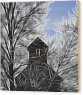 Tree House Wood Print by Steve McKinzie