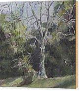 Tree Wood Print by Janet Felts