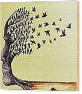 Tree Of Dreams Wood Print by Paulo Zerbato