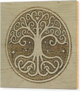 Tree Of Life Wood Print by Jason Gianfriddo