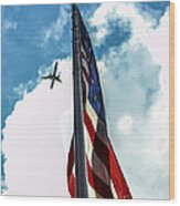 Tribute To The Day America Stood Still Wood Print by Rene Triay Photography