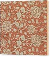 Tulip Wallpaper Design Wood Print by William Morris