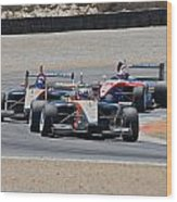 Turn 2 Traffic Wood Print by Dave Koontz