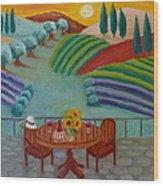 Tuscan Dreams Wood Print by Victoria Lakes