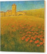 Tuscan Gold 1 Wood Print by Pamela Allegretto