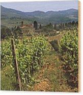 Tuscany Vineyard No.2 Wood Print by Mel Felix
