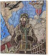 Tuskegee Airman Wood Print by Anthony High