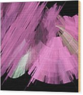 Tutu Stage Left Abstract Pink Wood Print by Andee Design