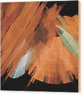 Tutu Stage Left Peach Abstract Wood Print by Andee Design