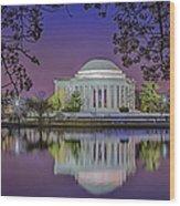 Twilight At The Thomas Jefferson Memorial  Wood Print by Susan Candelario