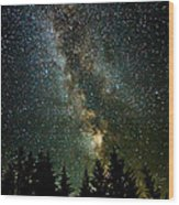 Twinkle Twinkle A Million Stars D1951 Wood Print by Wes and Dotty Weber