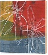 Two Flowers Wood Print by Linda Woods