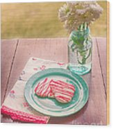Two Hearts Picnic Wood Print by Kay Pickens