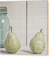 Two Pear Still Life Wood Print by Edward Fielding