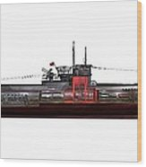 Type Viic42 U-boat, Artwork Wood Print by Science Photo Library