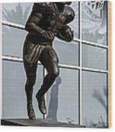 Uf Heisman Winner Tim Tebow  Wood Print by Lynn Palmer