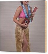 Ukelele Girl Wood Print by Gary Deck