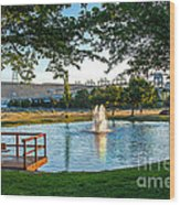 Umatilla Fountain Pond Wood Print by Robert Bales
