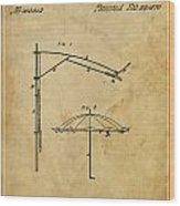 Umbrella Patent - A.b. Caldwell Wood Print by Pablo Franchi