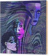 Una Madonna Arrabbiata - 315   Wood Print by Irmgard Schoendorf Welch