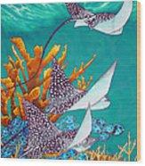 Under The Bahamian Sea Wood Print by Daniel Jean-Baptiste