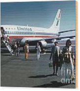 United Airlines Ual Boeing 737-222 N9069u April 1974 Wood Print by Wernher Krutein