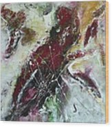 Universe- Abstract Art Wood Print by Ismeta Gruenwald