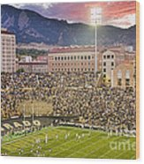 University Of Colorado Boulder Go Buffs Wood Print by James BO  Insogna