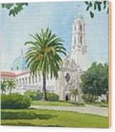 University Of San Diego Wood Print by Mary Helmreich