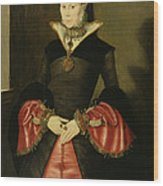 Unknown Lady From The Court Of King Wood Print by Hans Eworth or Ewoutsz