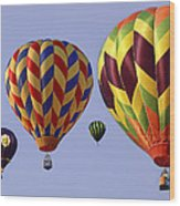 Up Up And Away Wood Print by Marcia Colelli