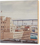 Us Grant Hotel In San Diego Wood Print by Mary Helmreich