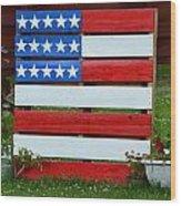 Usa Flag Wood Print by Kim Stafford