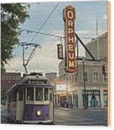 Usa, Tennessee, Vintage Streetcar Wood Print by Dosfotos