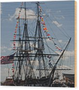 Uss Constitution Wood Print by Mike Ste Marie