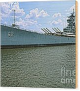 Uss New Jersey Wood Print by Olivier Le Queinec
