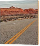 Utah Highway Wood Print by Benjamin Yeager